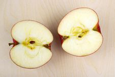 Halved Apple Royalty Free Stock Images