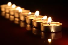 Candles On Dark Stock Photography