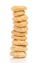 Free Cereal Flakes On White Background Stock Photos - 27324953