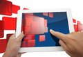 Free Hand Holding Touchpad Stock Photography - 27329752