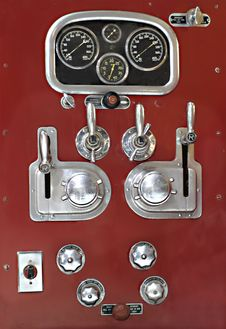 Free Control Panel On A Vintage Fire Truck. Royalty Free Stock Photography - 27320517