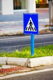 Free Sign A Pedestrian Crossing. Stock Photography - 27321292