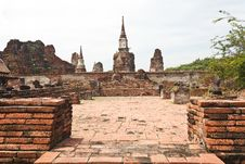 Free Ancient Temple Of Ayutthaya Royalty Free Stock Photography - 27322617