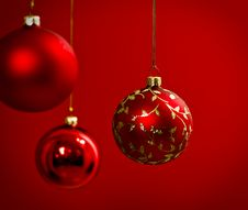 Free Christmas Decoration In Red Stock Image - 27322761