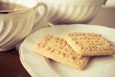 Free Tea And Biscuits In The Retro Royalty Free Stock Photography - 27323067