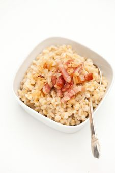 Free Pearl Barley With Bacon Stock Photos - 27323763