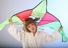 Free Girl With Kite Stock Images - 27324084
