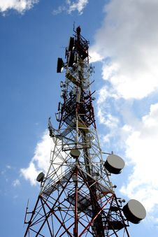 Telecommunication, Telecommunications Tower Royalty Free Stock Image