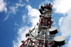 Telecommunication, Telecommunications Tower Stock Image
