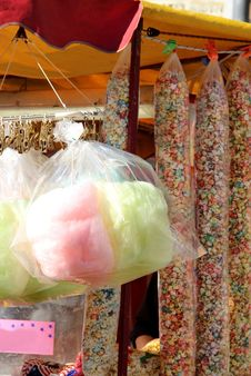 Free Cotton Candy And Sweet Popcorn Stock Photos - 27325053