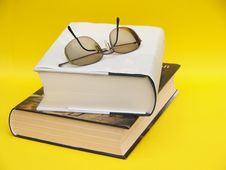 Free Readers Still Life With Books And Eyeglasses Stock Images - 27325514