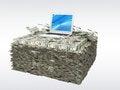 Free Labtop Money Stock Image - 27331961