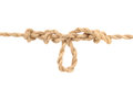Free Jute Rope With Dropper Loop Knot On White Royalty Free Stock Photos - 27333298