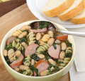 Free Kielbasa Spinach Soup Royalty Free Stock Images - 27334529