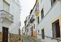 Free Steep Narrow Street In The Ancient Ronda Royalty Free Stock Photos - 27335398
