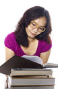 Free College Woman Study Stock Photography - 27337582