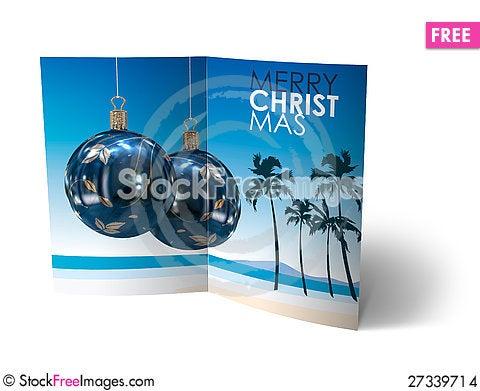 Free Christmas Balls Brochure, Card Illustration Stock Images - 27339714