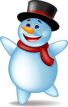 Free Snowman Dancing Royalty Free Stock Images - 27330459