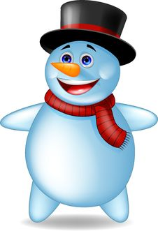 Free Snowman Cartoon Royalty Free Stock Photo - 27330565