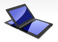 Tablet Creative Open Same Book Stock Photo