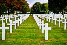 Free American War Cemetery Royalty Free Stock Photography - 27331137