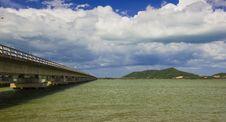 Free Long Concrete Bridge At Koh Yo Thailand Stock Photography - 27335672