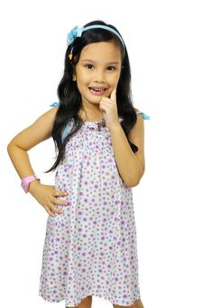 Free Mix Race Little Girl Royalty Free Stock Photography - 27337487