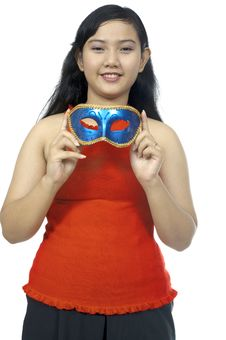 Free Fat Chubby Girl Wear Mask Stock Photo - 27337530