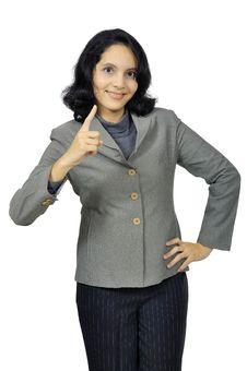 Mixed Race Business Woman Stock Photo