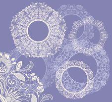 Free Round Seamless Lace Set Royalty Free Stock Photo - 27339445