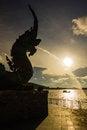 Free Head Of Naka Statue Spray Water Royalty Free Stock Photo - 27347005