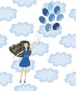 Free Girl With Balloons Royalty Free Stock Images - 27349279