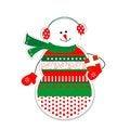 Free Smiling Snowman Royalty Free Stock Photos - 27349308
