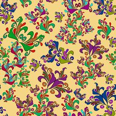Free Graphic Element. Floral Seamless Texture. Royalty Free Stock Photography - 27341057