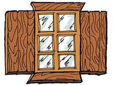 Free Wooden Window Stock Image - 27341471