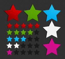 Free Colorful Five Star Set Stock Image - 27341931
