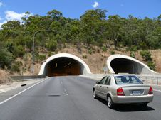 Free Road With Tunnel. Stock Image - 27343051