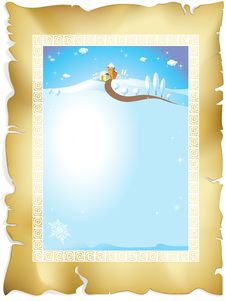 Free Winter Frame Royalty Free Stock Photo - 27343605