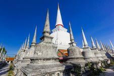 Free Wat Phra Mahathat Woramahawihan Southern Thailand Royalty Free Stock Image - 27345026