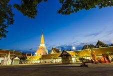 Free Wat Phra Mahathat Woramahawihan Southern Thailand Royalty Free Stock Photography - 27345057