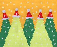 Free Santa Trees Background Royalty Free Stock Image - 27346306