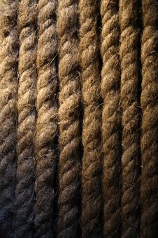 Old Rope Background Stock Photography