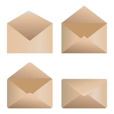 Free Envelope Icons Royalty Free Stock Images - 27348849