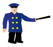 Free Policeman Icon Royalty Free Stock Image - 27348896