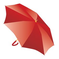 Free Red Umbrella Royalty Free Stock Images - 27348899