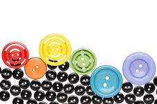 Free Sewing Buttons Royalty Free Stock Photography - 27349147