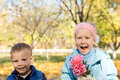 Free Happy Children Picking Flowers Royalty Free Stock Images - 27359799