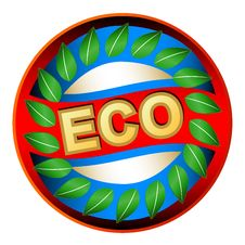 Free Eco Logo Royalty Free Stock Photos - 27350538