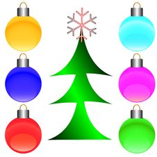 Merry Christmas Set Royalty Free Stock Images