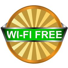 Free Wi Fi Logo Royalty Free Stock Images - 27350549